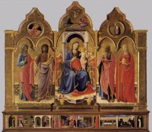 玉座の聖母子と4聖人