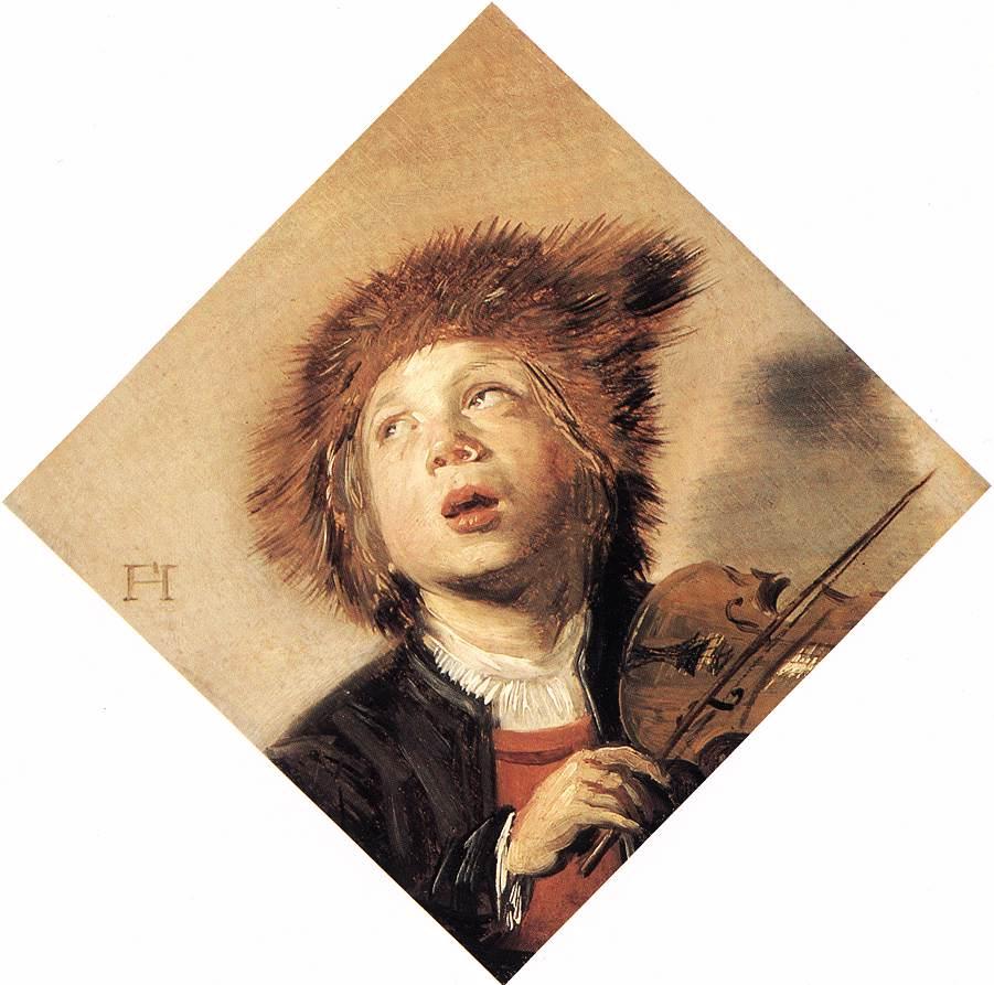 ヴァイオリンを弾く少年