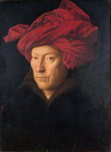 赤いターバンの男の肖像
