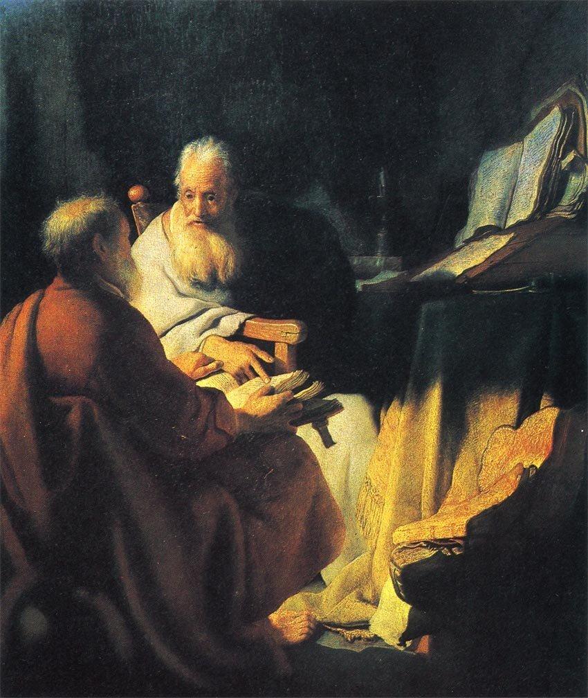 議論する二人の老人