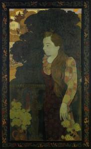 夕映えの中のマルト(象徴主義者としてのマルトの肖像)