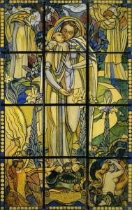 聖母の接吻(輝く大天使・聖母の接吻・アダムとイブの楽園追放)