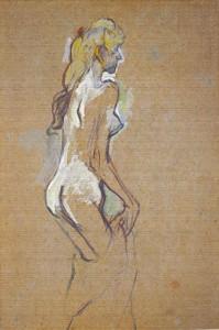裸体少女、(《女性の研究》のための習作)