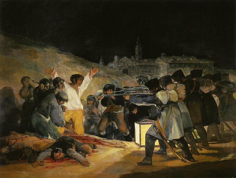 1808年5月3日、プリンシペ・ピオの丘での銃殺