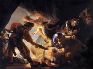 ペリシテ人に目を潰されるサムソン