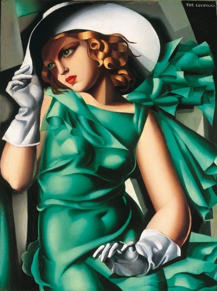 緑の服の女