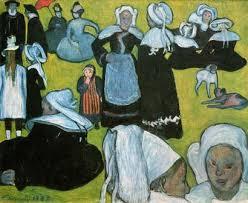 草地のブルターニュの女たち