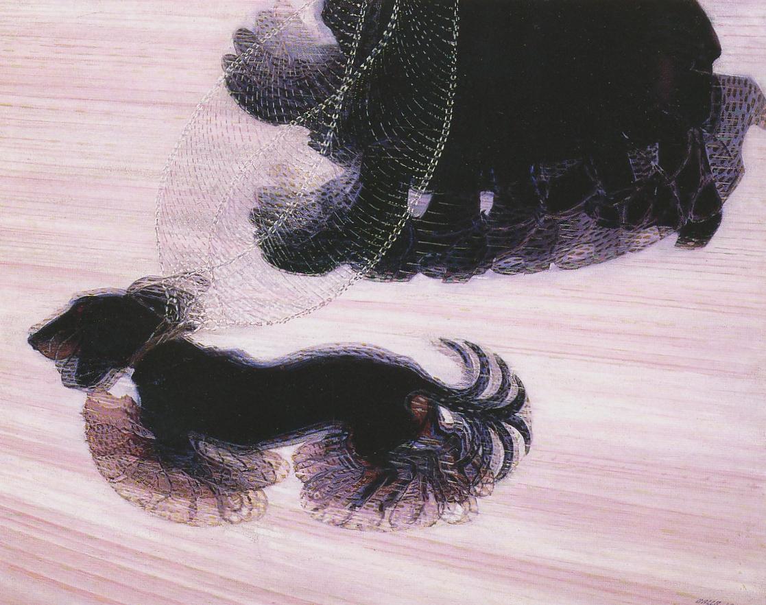 鎖に繋がれた犬のダイナミズム