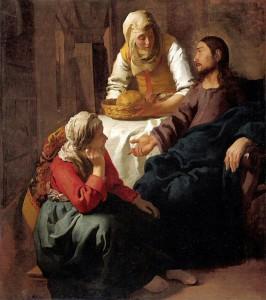マリアとマルタの家のキリスト
