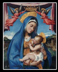 天使より戴冠される聖母子