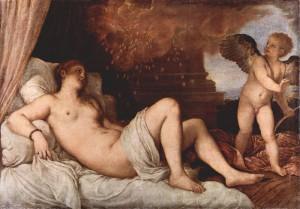 エロスとともに描かれたダナエ