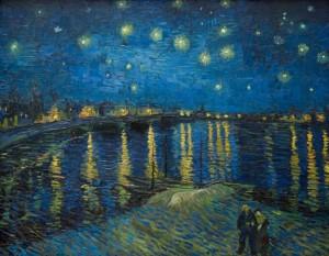 ローヌ川の星月夜(星降る夜)