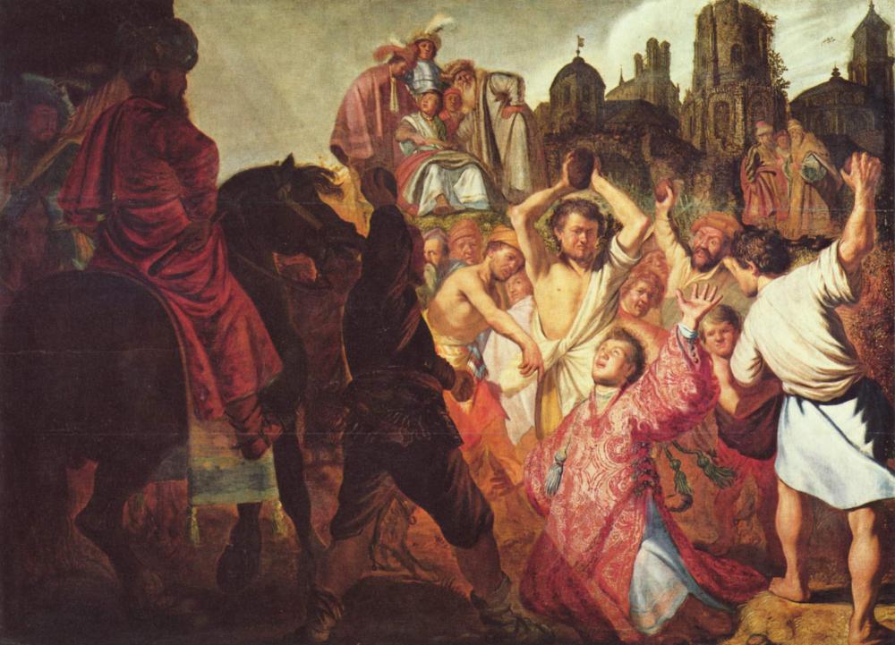 聖ステバノの殉教》レンブラント...