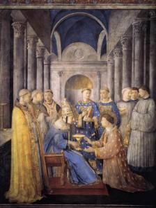 聖ラウレンティウスを助祭に任ずる聖ペトロ