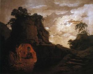ウェルギリウスの墓とシリウス・イタリクス像