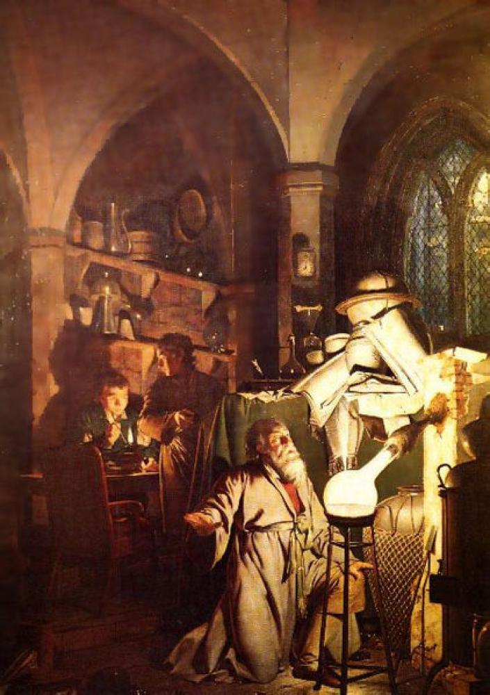 賢者の石を探す錬金術師