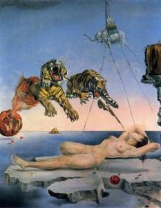 目覚めの直前、柘榴のまわりを一匹の蜜蜂が飛んで生じた夢
