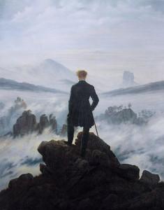 雲海の上の旅人