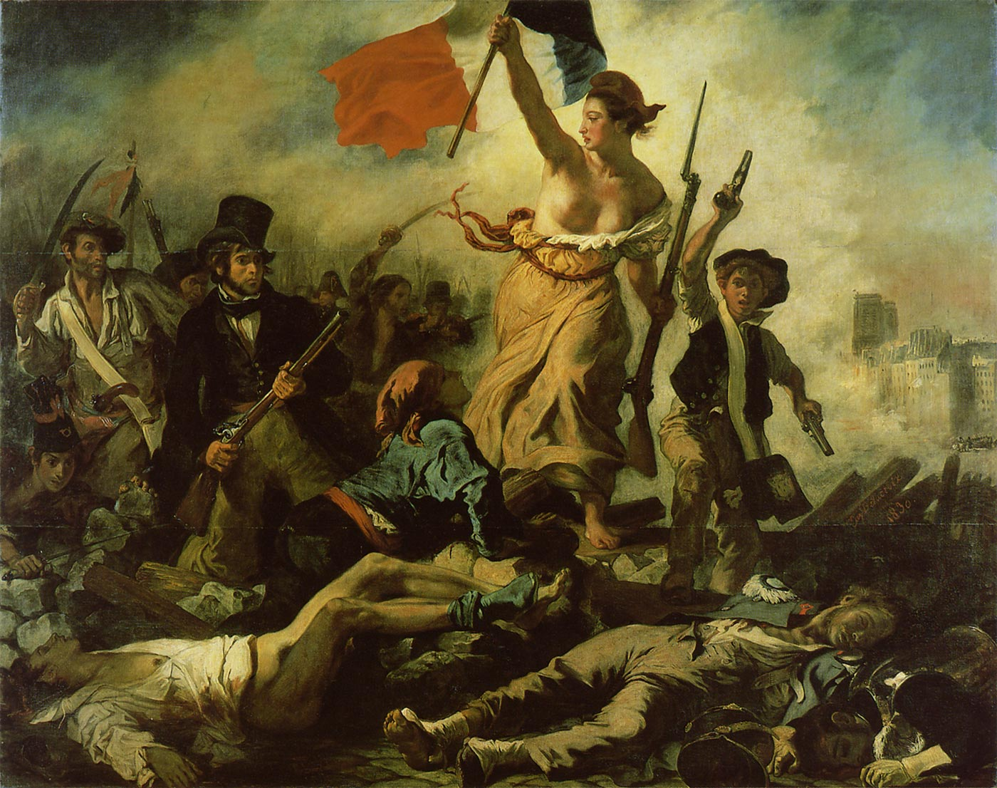 民衆を導く自由の女神1