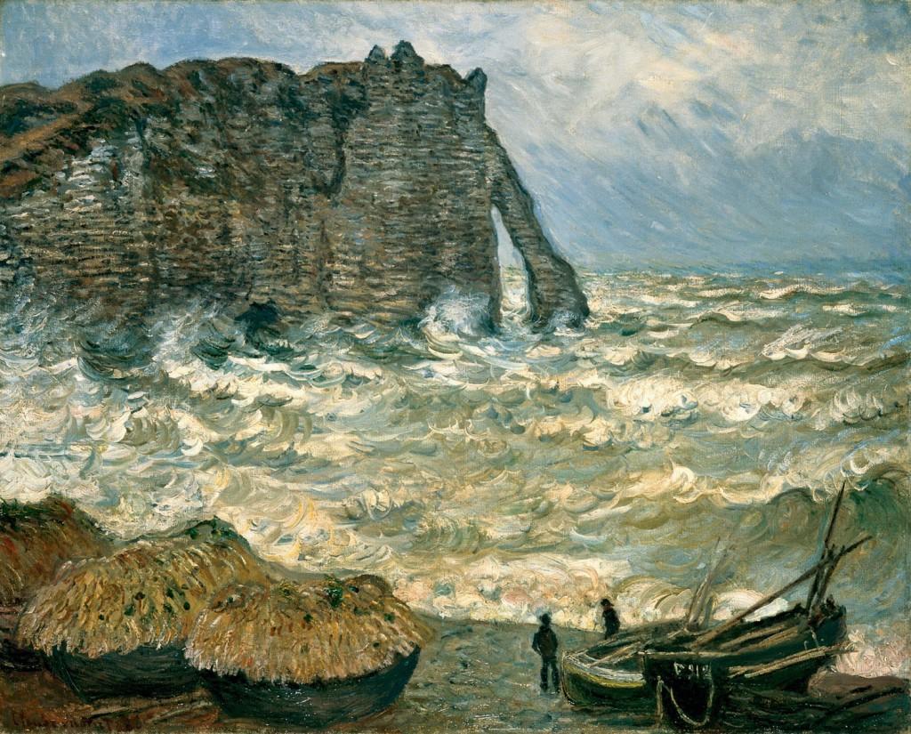 エトルタ、荒れた海