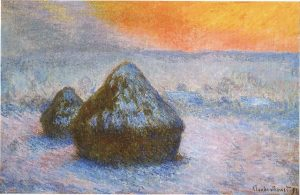 1278_wheatstacks_sunset_snow_effect_1890-91_65-3_x_100-4_cm_25_11-16_x_39_1-2