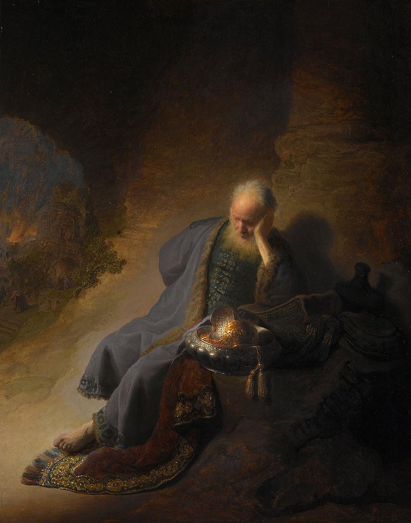 エルサレムの滅亡を嘆くエレミヤ