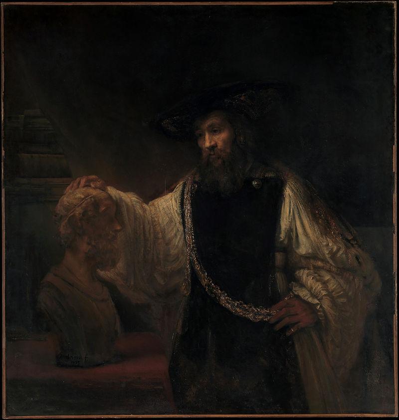 アリストテレスとホメロスの胸像