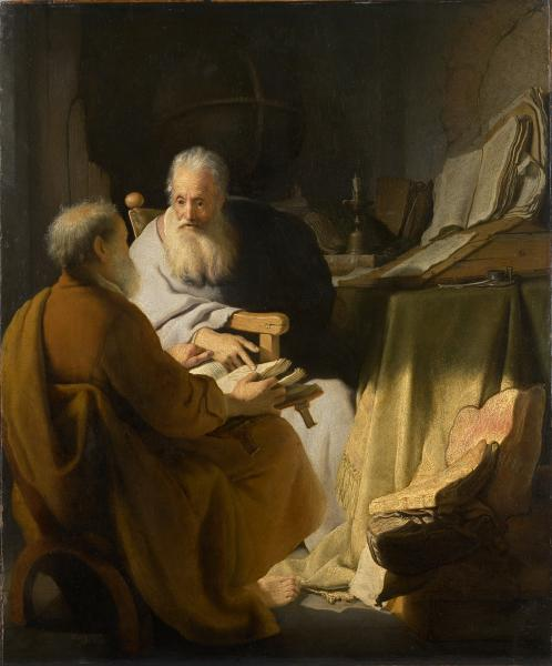 討論する二人の男(聖ペテロと聖パウロ)