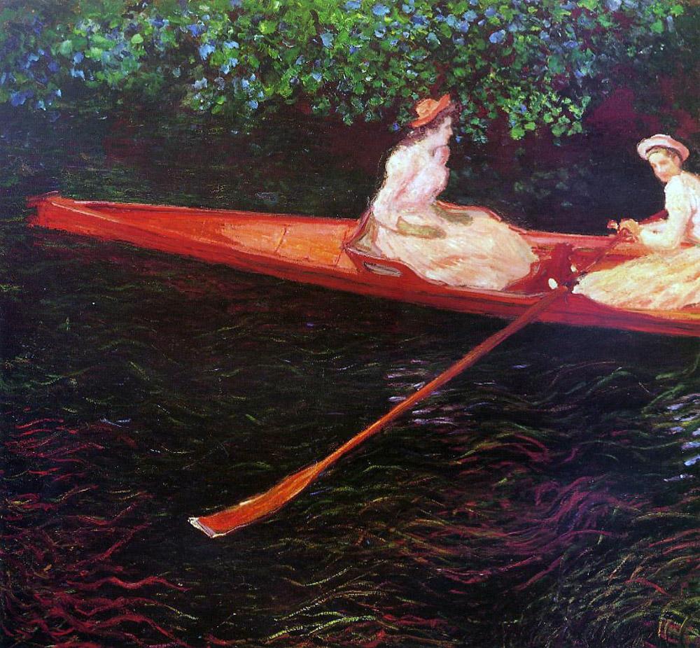 エプト川の舟遊び(エプト川のカヌー)