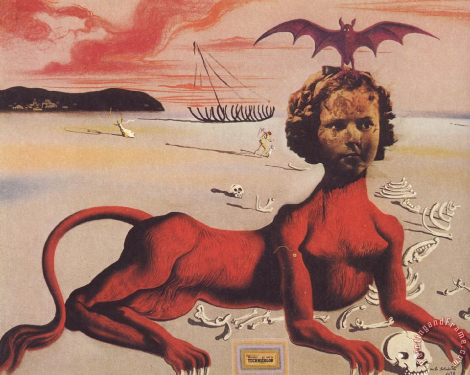 Shirley Temple Painting by Salvador Dali; Shirley Temple Art Print for sale