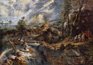 嵐の風景とバウキスとピレーモーン
