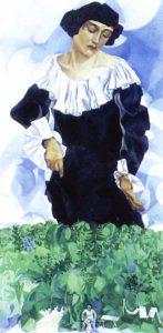 白い襟のベラ