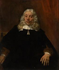 白髪の男の肖像