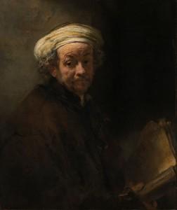 聖パウロに扮した自画像