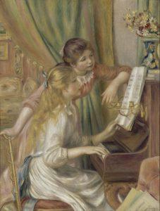ピアノの前の少女たち
