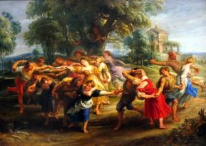 村人の踊り