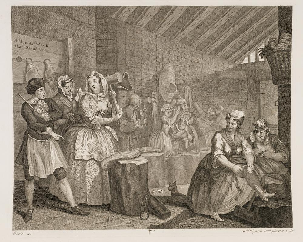 娼婦一代記(4,モル、ブライドウェル監獄で麻を打つ)