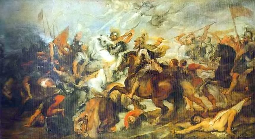 イヴリーの戦いでのアンリ4世
