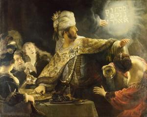 ベルシャザルの酒宴(壁の言葉)
