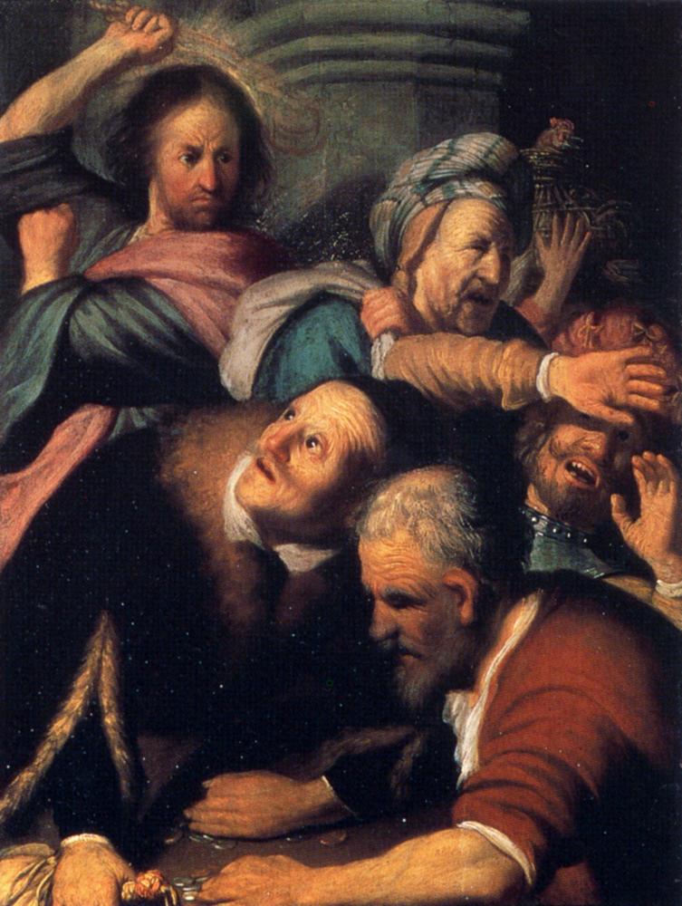 神殿から両替人を追放するキリスト