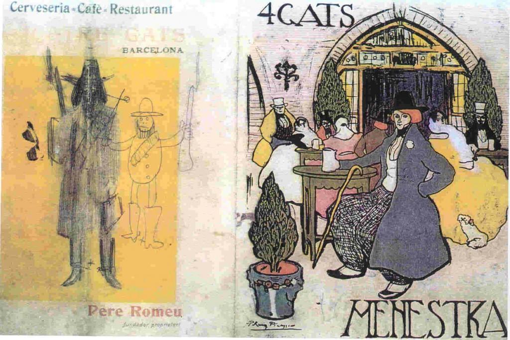 1899 Menu de Els 4 Gats