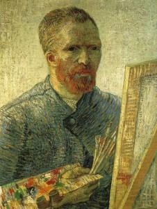 イーゼルの前の自画像(画家としての自画像)