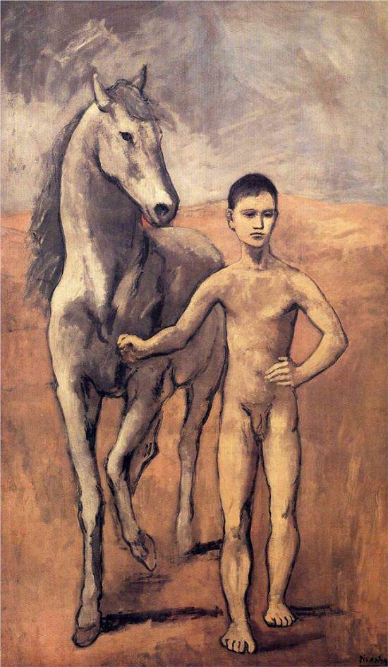 馬を引く少年