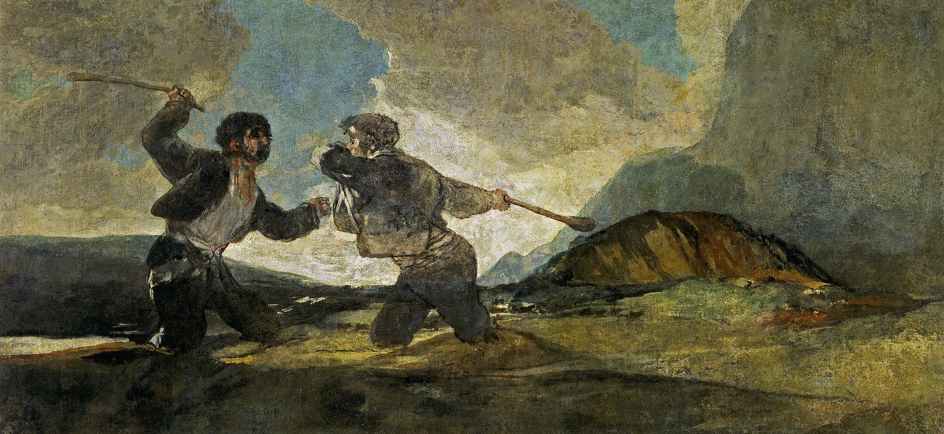 棍棒での決闘