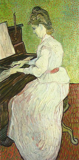 ピアノを弾くマルグリット・ガシェ