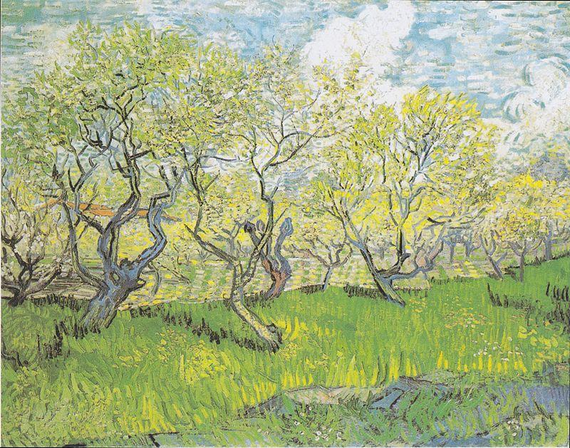 800px-Van_Gogh_-_Blühender_Obstgarten3