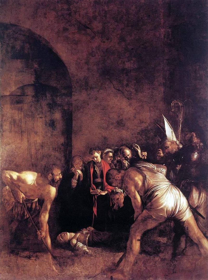 聖女ルチアの埋葬