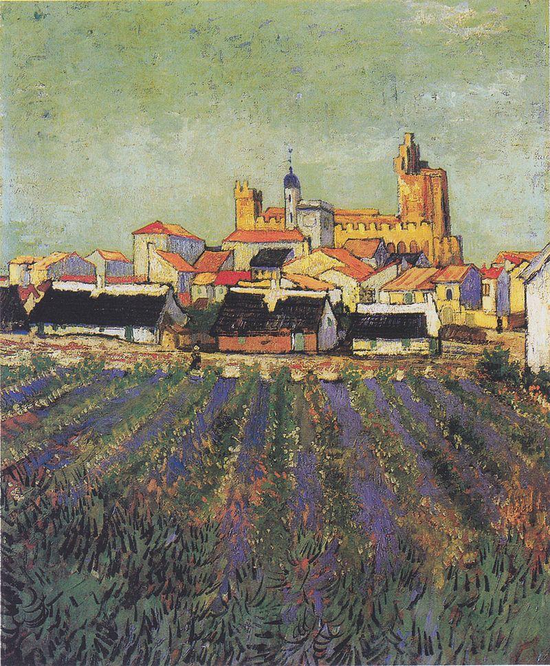 800px-Van_Gogh_-_Blick_auf_Saites-Maries1