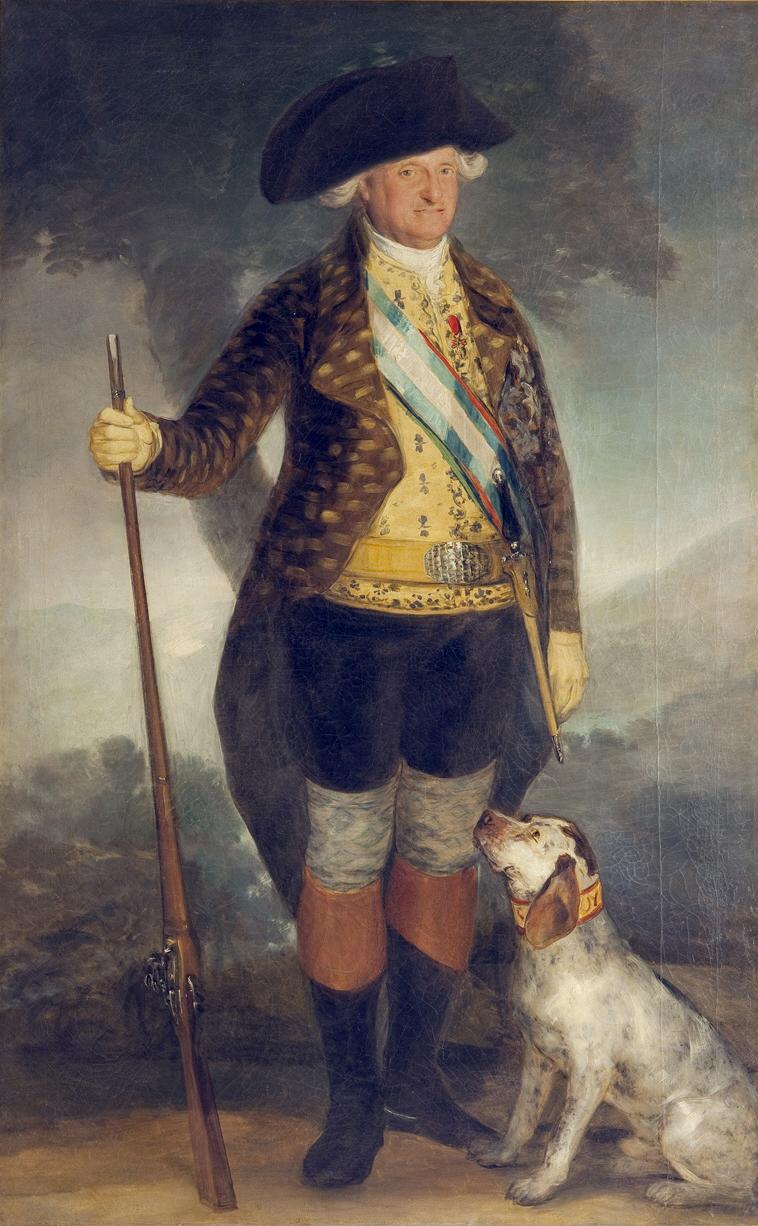 狩猟服姿のカルロス4世