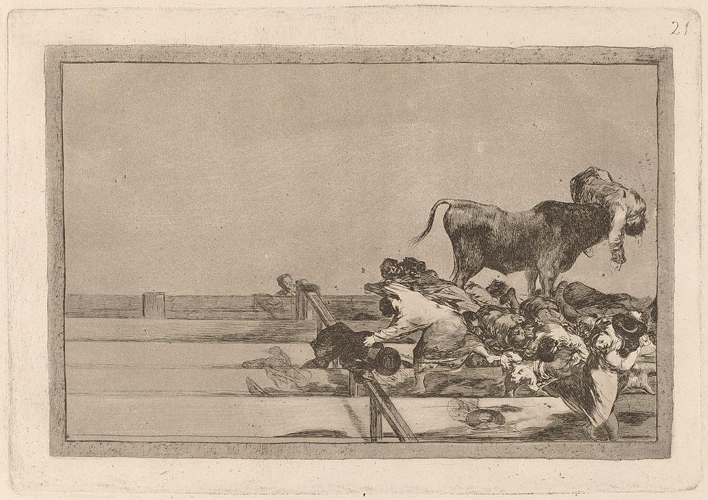 マドリードの闘牛場の無蓋席で起こった悲劇とトレホーン市長の死